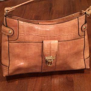 Liz Claiborne New alligator embossed satchel purse